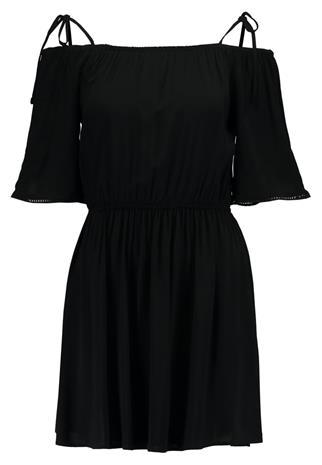 Pieces PCAFIA COLD SHOULDER Vapaaajan mekko black