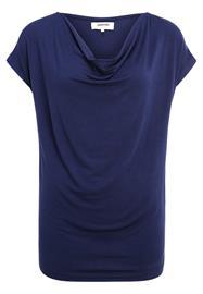 Zalando Essentials WATERFALL NECKLINE Printtipaita dark blue
