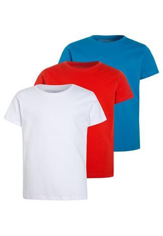 Friboo 3 PACK Tpaita red/blue jewel/white