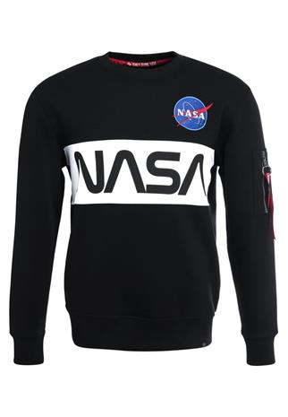 Alpha Industries NASA INLAY Collegepaita black