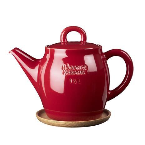 Höganäs Keramik Höganäs teekannu 1,5 l omenanpunainen, kiiltävä
