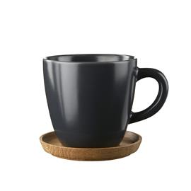 Höganäs Keramik Höganäs kahvimuki ja aluslautanen 33 cl grafiitinharmaa, matta