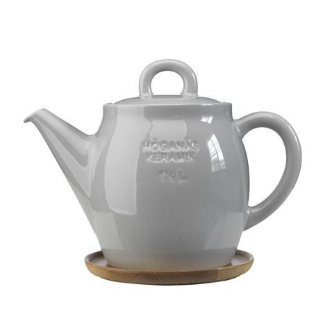 Höganäs Keramik Höganäs teekannu 1,5 l vaaleanharmaa kiiltävä