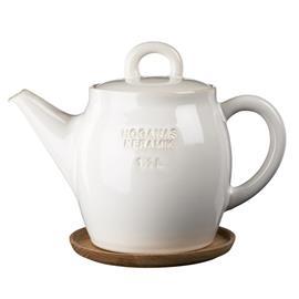 Höganäs Keramik Höganäs teekannu 1,5 l valkoinen, kiiltävä