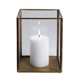 H Skjalm P H Skjalm P nelikulmainen kynttilälyhty lasi-messinki 19 cm