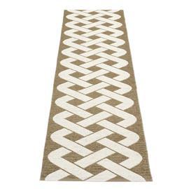 Pappelina Eira matto nougat metalli-vanilja 70x350 cm