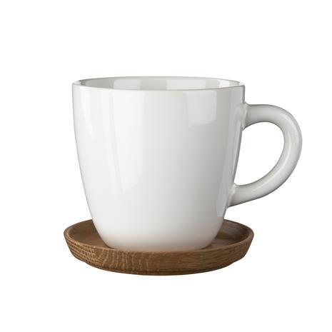Höganäs Keramik Höganäs kahvimuki ja aluslautanen 33 cl valkoinen, kiiltävä