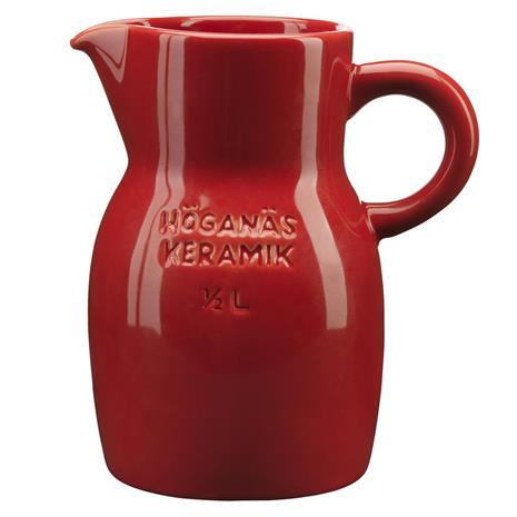 Höganäs Keramik Höganäs kannu 0,5 l omenanpunainen, kiiltävä