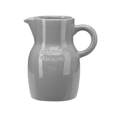 Höganäs Keramik Höganäs kannu 0,5 l vaaleanharmaa kiiltävä