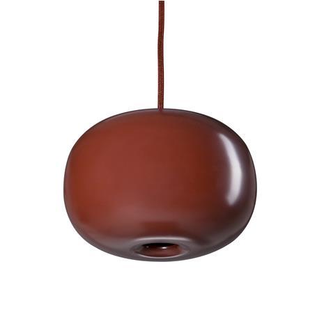 Orsjo Belysning Pebble kattovalaisin pullea punainen-metalli