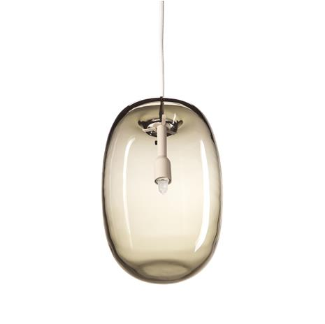 Orsjo Belysning Pebble kattovalaisin pitkänomainen lämmin harmaa-lasi