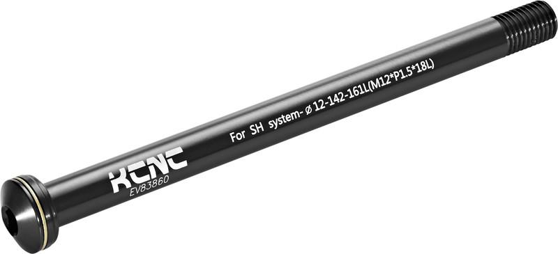 KCNC KQR08 12 mm/142 mm Shimano E-Thru/Fox-161 mm , musta