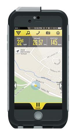 Topeak Weatherproof RideCase iPhone 6 Plus+pidike , harmaa/musta