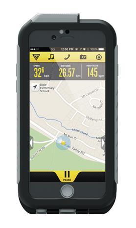 Topeak Weatherproof RideCase iPhone 6+pidike , harmaa/musta