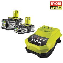 Ryobi RBC18LL415, laturi + 2 akkua