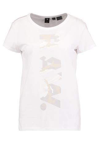 GStar DANARIUS STRAIGHT R T S/S Printtipaita white