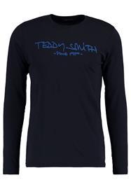 Teddy Smith TICLASS Pitkähihainen paita dark navy/caribbean blue