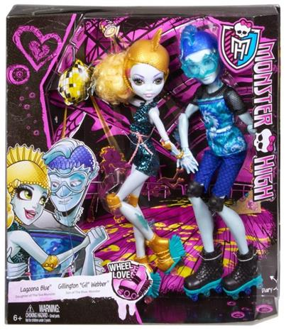 Lagoona Blue & Gil Webber - Wheel Love Monster High 2 pack