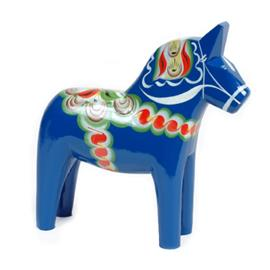 Grannas A Olssons Hemslöjd Taalainmaanhevonen sininen 10 cm
