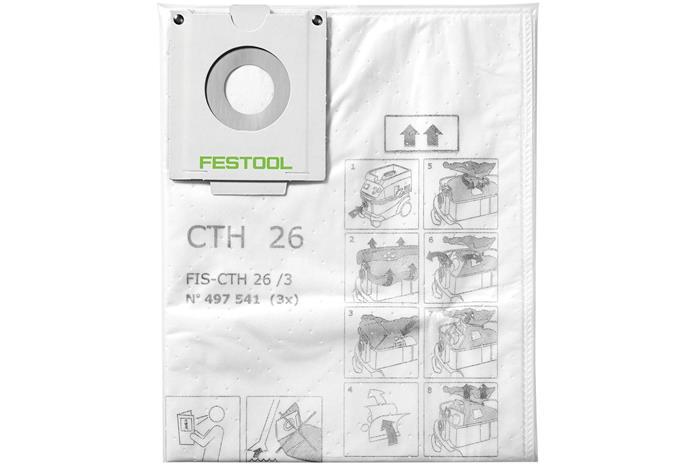 Tekstiiliset pölypussit imurille Festool FIS-CTH 48/3; 3 kpl.