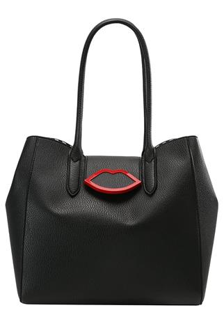 Lulu Guinness CUPIDS BOW SOFIA Shopping bag black