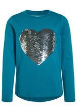 Friboo HEART SEQUIN Pitkähihainen paita enamel blue