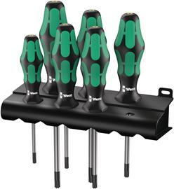 Wera 367/6 Screwdriver set Kraftform Plus TORX and rack (05028062001), torx ruuvimeisselisarja