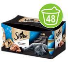 Sheba Fine Fillets -säästöpakkaus 48 x 80 g - mix