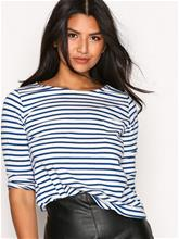New Look Stripe 3/4 Sleeve Top T-Paidat Blue/White