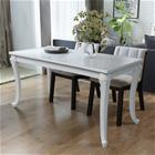 vidaXL Ruokapöytä 120x70x76 cm Korkeakiilto Valkoinen