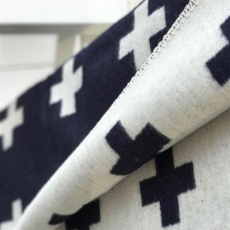 Pia Wallen Cross blanket huopa iso tummansininen