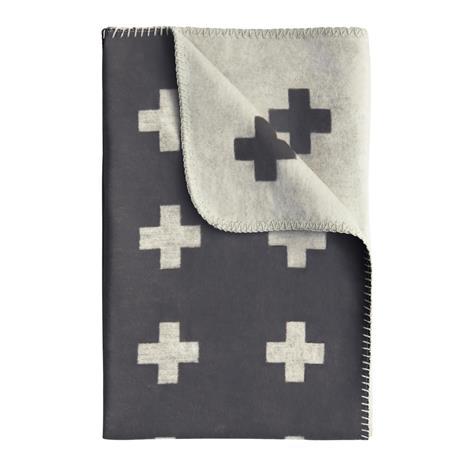 Pia Wallen Cross blanket huopa pieni harmaa