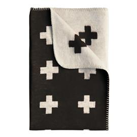 Pia Wallen Cross blanket huopa iso musta