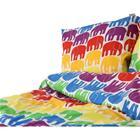 Pussilakanasetti, Elefantti, 150 x 210 cm, Monivärinen, Lakanat ja tyynyliinat