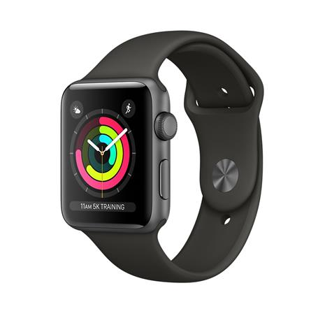 Apple Watch Series 3 42mm (Sport Band, alumiinikuori), älykello