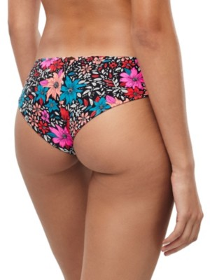 O'Neill Cheeky Bikini Bottom black aop w / pink Naiset