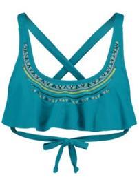 O'Neill Ruffle Bandeau Bikini Top bondi blue Naiset