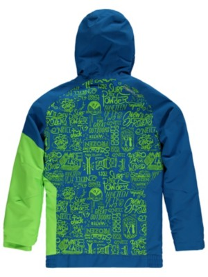 O'Neill Grid Jacket Boys blue aop w / green Jätkät
