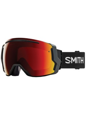 Smith I/O 7 Black (+Bonus Lens) sun red mirror+storm rose Miehet