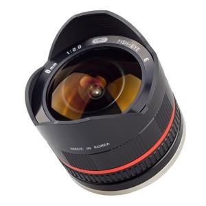 Samyang 8mm f/2.8 UMC Fisheye II, objektiivi