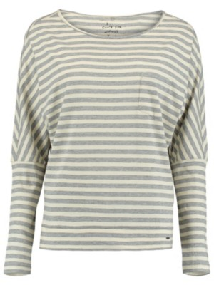O'Neill Essentials Striped T-Shirt LS white aop w / grey Naiset