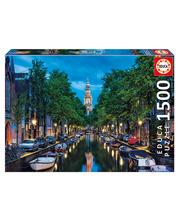 Educa 1500 Amsterdam canal at dusk palapeli