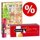 Cosma-joulupaketti: märkäruoka + joulukalenteri + herkut - 3 tuotetta