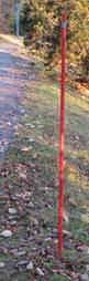 Aurausviitta Ø25 mm x 1800 mm Oranssi viitta pitää auraajan tiellä!