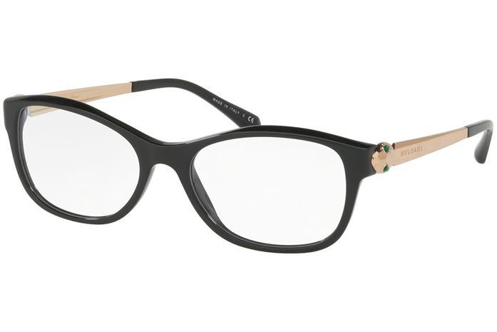 Bvlgari BV4138KB 5195, Musta, Materiaali Muovi, Naisten silmälasit
