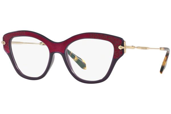 Miu Miu MU07OV U6A1O1 Liila Materiaali Muovi Naisten silmälasit ... 7402891cc0