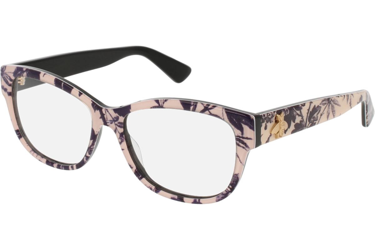 Gucci GG0098O 005 53 Musta Materiaali Asetaatti Naisten silmälasit  Silmälasit 305a3dd53d
