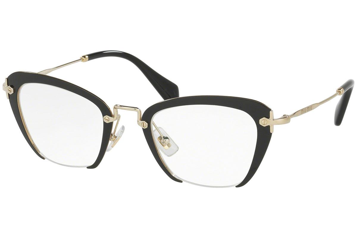 Miu Miu MU54OV 1AB1O1 Musta Materiaali Metalli Naisten silmälasit ... 59df2af187