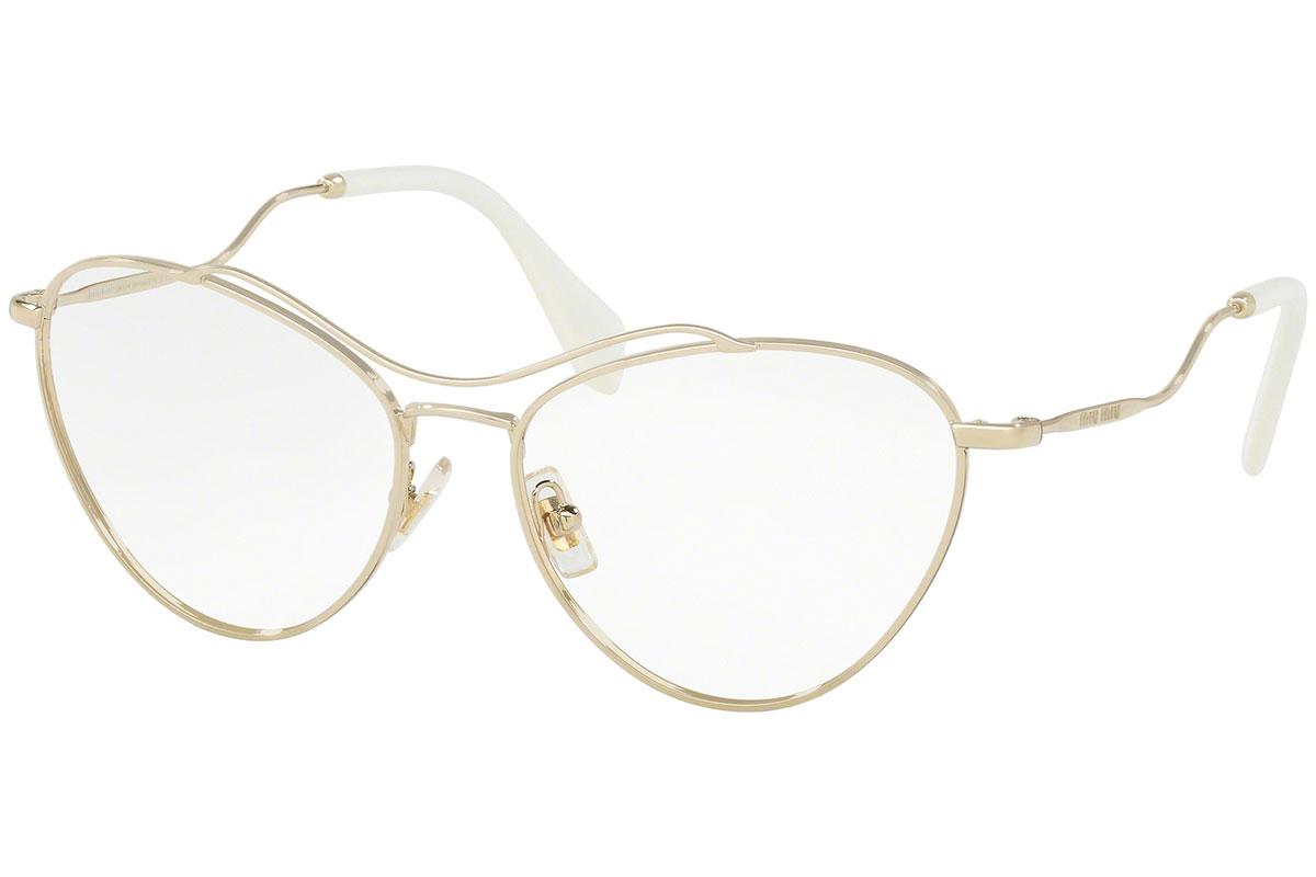 Miu Miu MU53PV ZVN1O1 Kulta Materiaali Metalli Naisten silmälasit Silmälasit bcbfb3ecc2