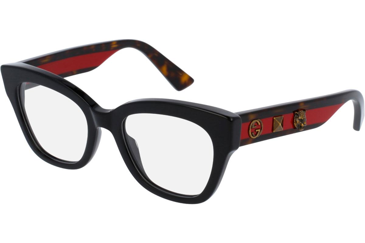 Gucci GG0060O 001 Musta Materiaali Asetaatti Naisten silmälasit Silmälasit 91ce559072